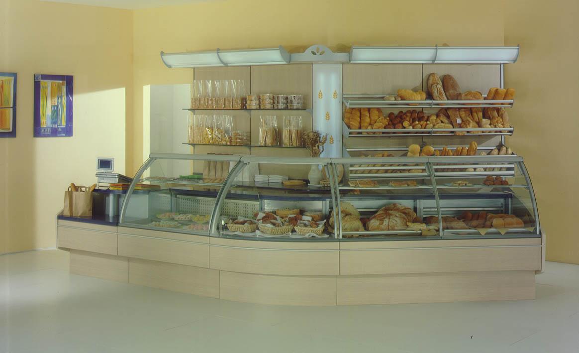 Bancone e vetrina panetteria e forno arredamento for Arredamento enoteca usato