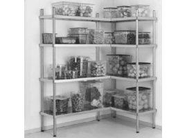 Pensili e scaffali in acciaio attrezzature negozi gervasoni
