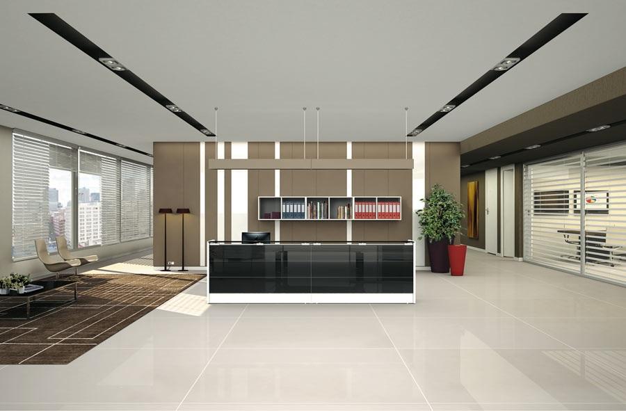 Reception miro elegant reception e banconi arredo for Arredo ufficio reception