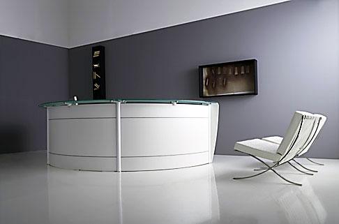Reception glass reception e banconi arredo ufficio for Arredo ufficio reception
