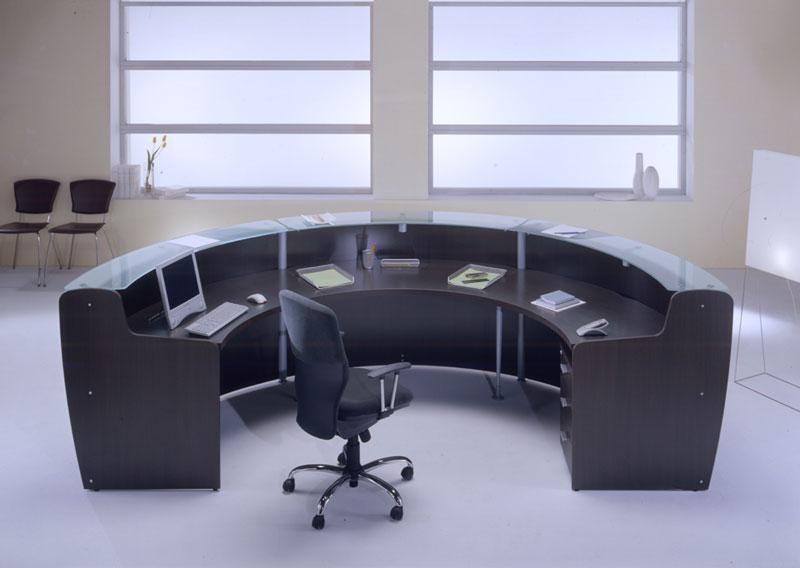 Reception glass reception e banconi arredo ufficio for Negozi sedie ufficio roma