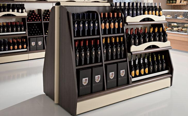 Espositori per enoteca arredamento enoteca food for Arredamento enoteca wine bar